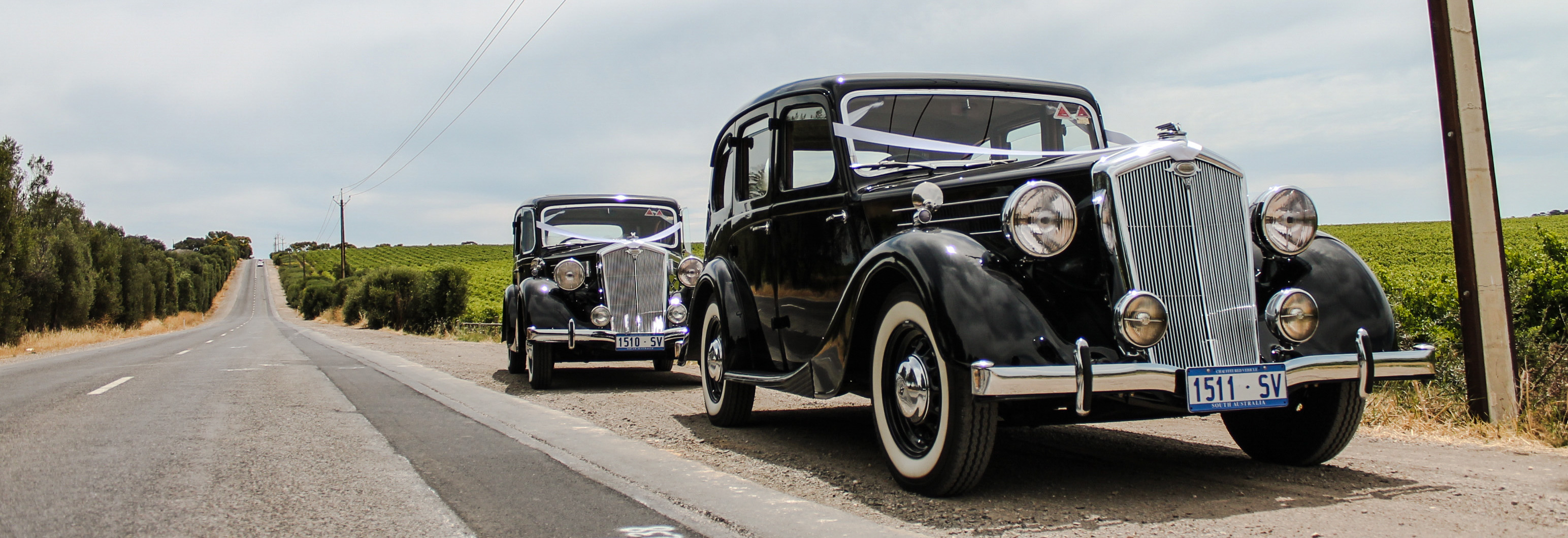 wolseley wedding cars Adelaide front view